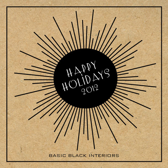 corporate holiday cards - STARBURST CHRISTMAS by Olive Paper
