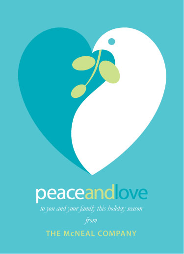 business holiday cards - Peace and Love by Wendy Vandenbrock