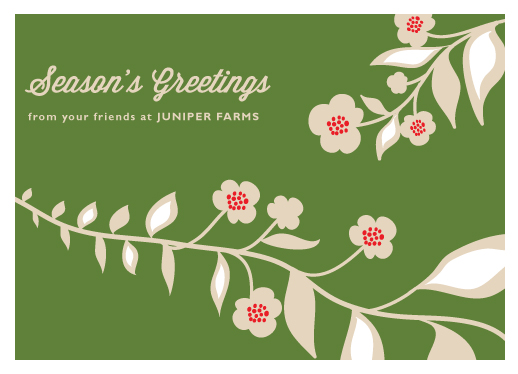 corporate holiday cards - Festive Vines by Monica Schafer