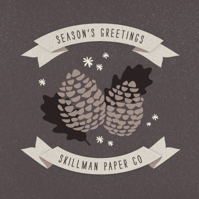 corporate holiday cards - Pine Cones by Snow and Ivy