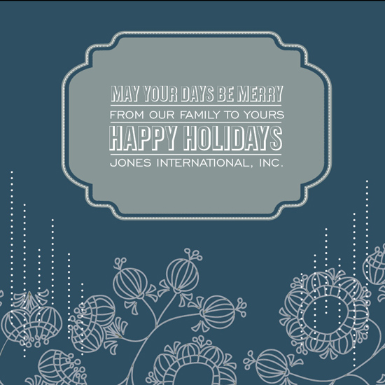 business holiday cards - Be Merry Holiday Card by Rodney Jones