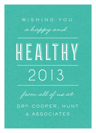 business holiday cards - Healthy New Year! by root beer float
