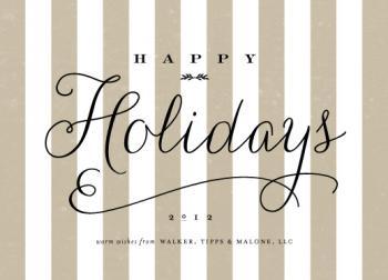 happy holidays stripe