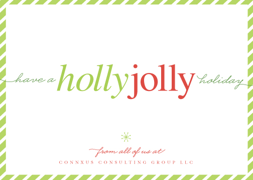 corporate holiday cards - don't worry. be jolly. by Carrie ONeal