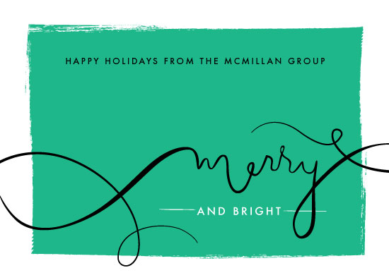 corporate holiday cards - Overflowing Merry by Frooted Design