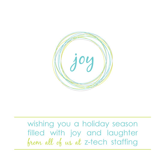 business holiday cards - joy laughter and scribbles by Emily - Fresh Paper Studios