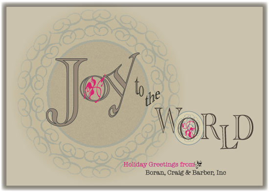 business holiday cards - Joy to the World by Kori Woodring