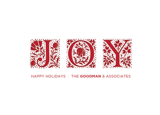 corporate holiday cards - Joy Papercut by Coco and Ellie Design