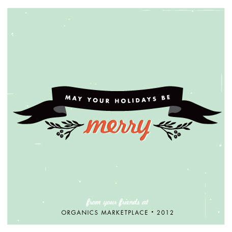 business holiday cards - merry message by trbdesign