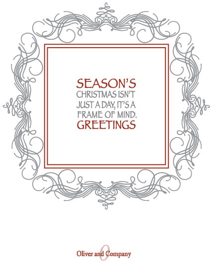 corporate holiday cards - Christmas is a Frame of Mind by Wendy McClure