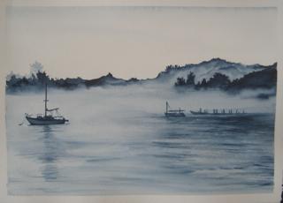 art prints - A Foggy Kind of Blue by Cindy Shih