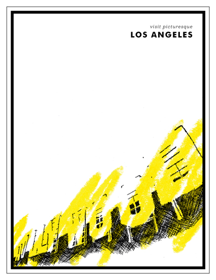 art prints - Visit Los Angeles by Jack Knoebber