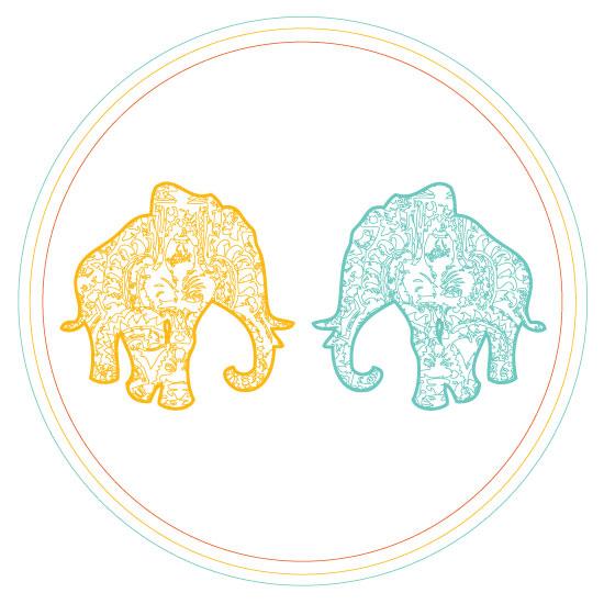 art prints - Elephant Love by Anna London