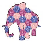 Patchwork Elephant by Anna London