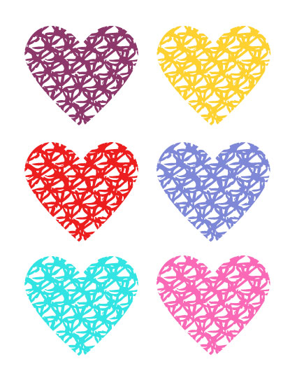 art prints - Knotted Hearts by Anna London
