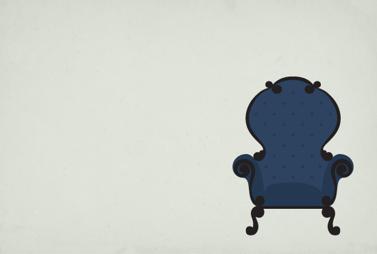 art prints - Victorian High Back Chair by Katherine Morgan