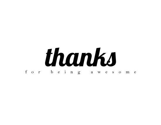 thank you cards - For Being Awesome by Paperful Press
