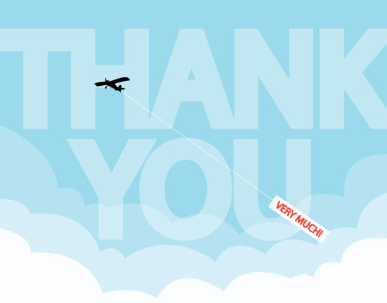 thank you cards - Airplane Thank You by Katie Zimpel