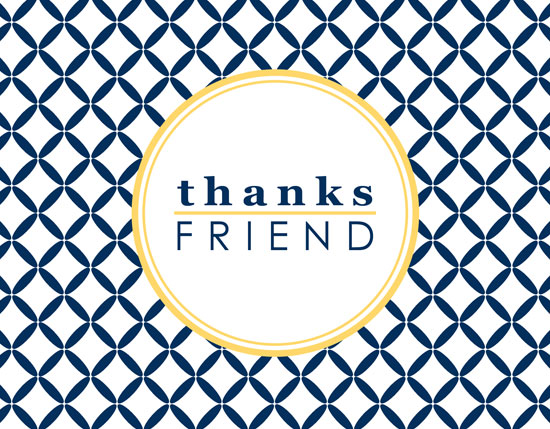 thank you cards - Thanks Friend by Emma Robinson