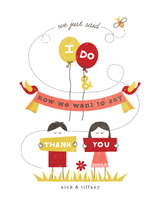 thank you cards - We Said  I Do by Serenity Avenue