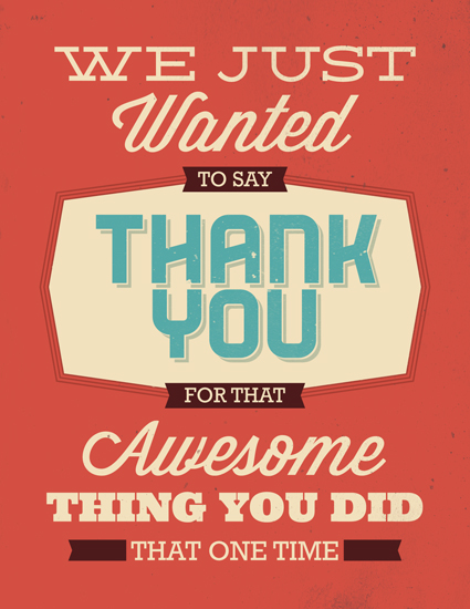 thank you cards - Thanks for the Thing by GeekInk Design