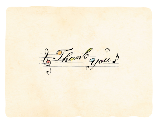 thank you cards - Sing a thank you song by Duha