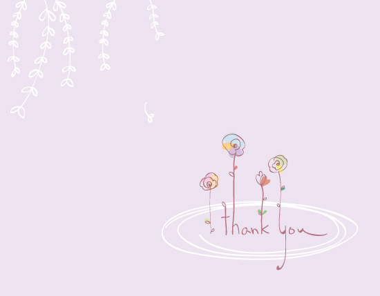 thank you cards - Thank you flowers in a pond by Duha