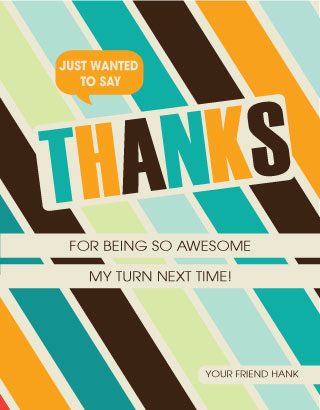 thank you cards - You are awesome by Creaform Design
