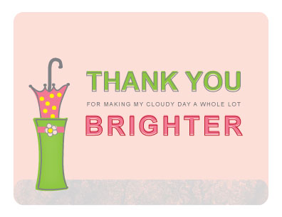 thank you cards - Bright Days Ahead by Jenn Johnson