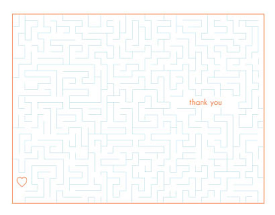 thank you cards - Appreciation Maze by ardentGOODS