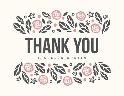 thank you cards - Bold Botanicals by Griffinbell Paper Co.