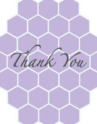thank you cards - Lilac Honeycomb by Roseville Designs