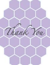 Lilac Honeycomb by Roseville Designs