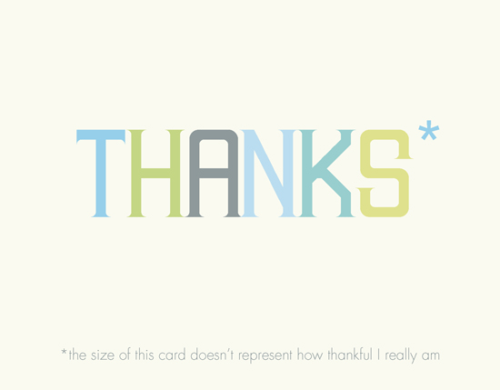 thank you cards - Asterisk by Ana Gonzalez