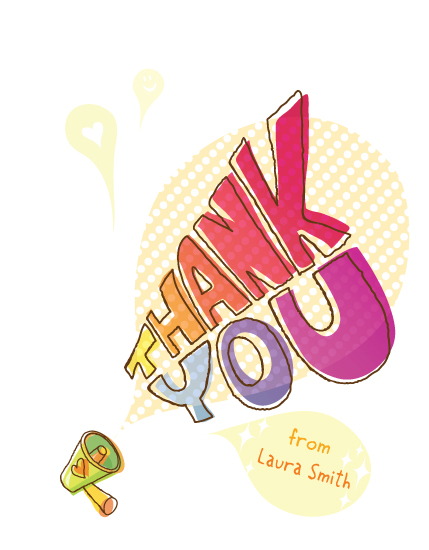 thank you cards - Thank out loud by Duha