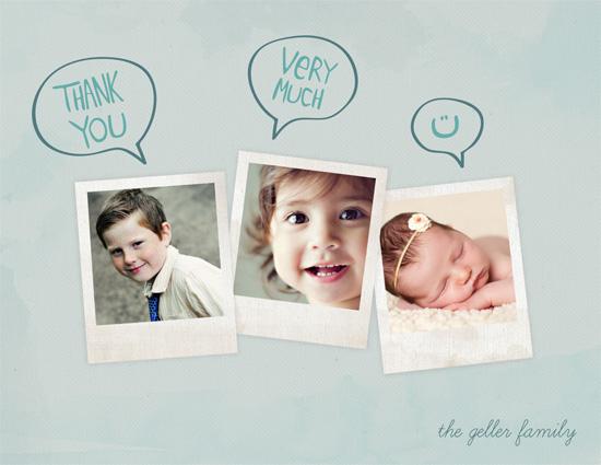 thank you cards - Talking Polaroids by Marcela Cebrowski