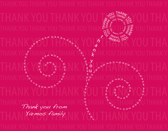 thank you cards - Typographic FLower by Stellax Creative