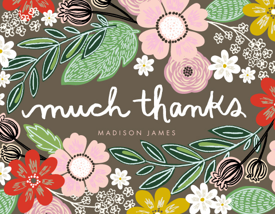 thank you cards - Woodland Thanks by Alethea and Ruth
