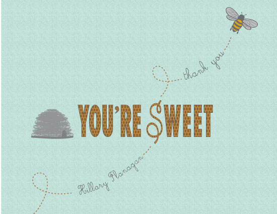 thank you cards - You're Sweet by Wendy McClure