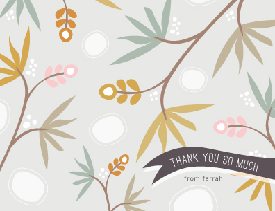 thank you cards - Tropical thanks by Stacey Meacham