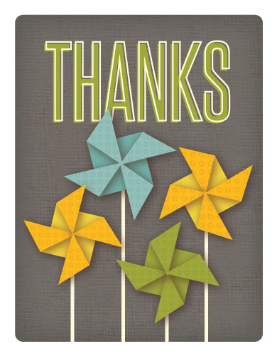 thank you cards - Pinwheel by Lynn and Lou Paper Co