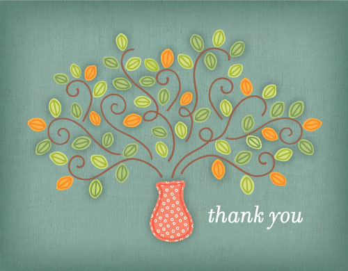 thank you cards - Thank You Tree by Lynn and Lou Paper Co