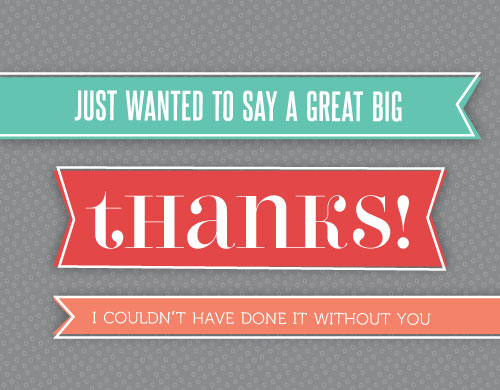 thank you cards - Great Big Thanks Banner by Lynn and Lou Paper Co