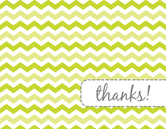 thank you cards - Green Chevrons by Emily - Fresh Paper Studios