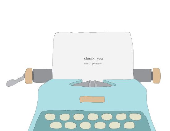 thank you cards - Typewriter by Marcela Cebrowski