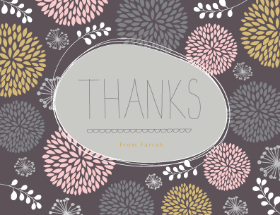 thank you cards - Thanks a bunch of mums by Stacey Meacham