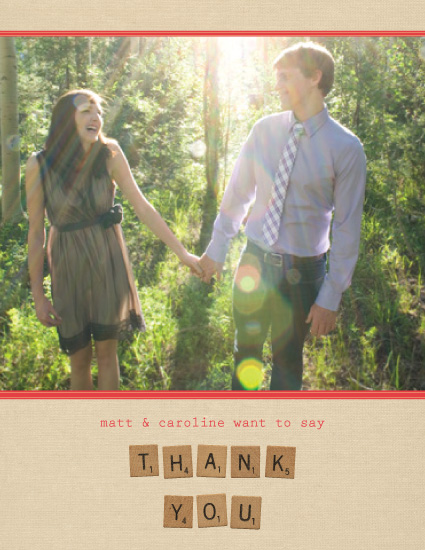 thank you cards - Scrabble Love by Marcela Cebrowski