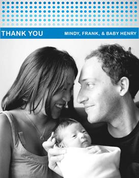 Modern Baby Ombre Thank You Card