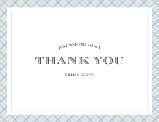 thank you cards - Dapper Men by Marcela Cebrowski