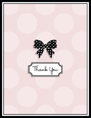 thank you cards - Dottie Bow by Katherine